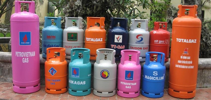 Các bình gas quen thuộc này chính là ứng dụng của máy lốc tôn