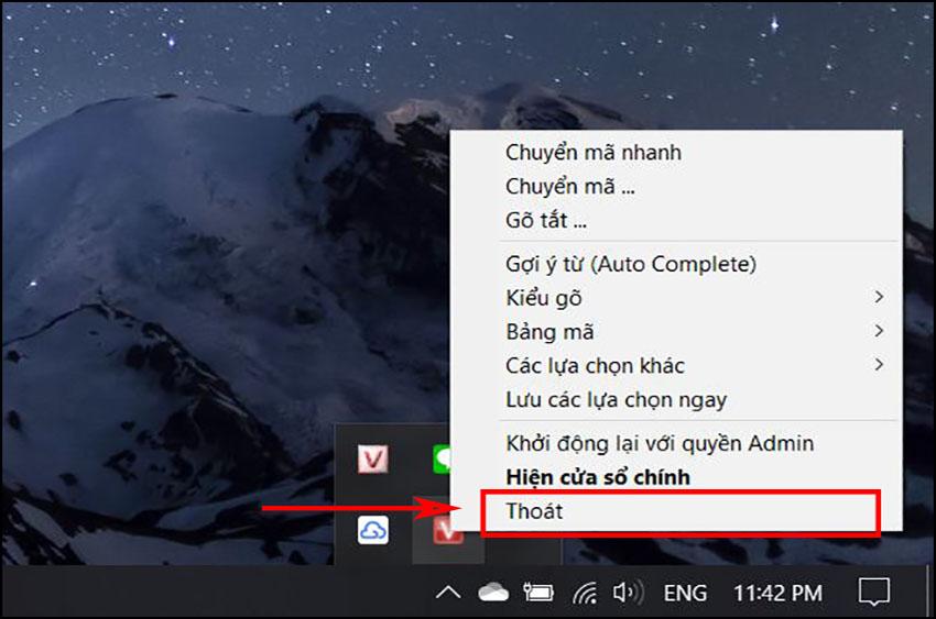 Lỗi do tồn tại hai phiên bản Unikey trên máy tính