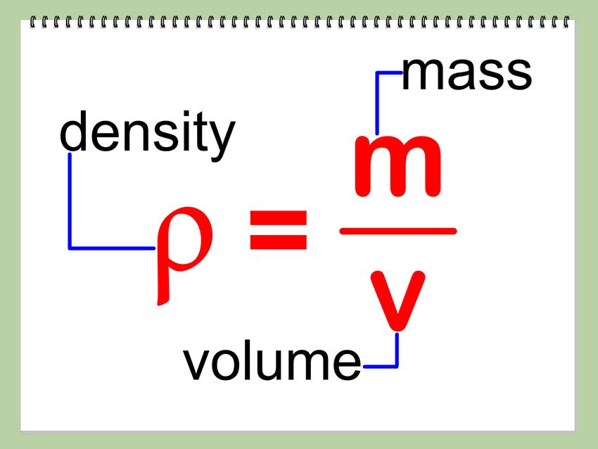 Công thức tính khối lượng riêng trung bình