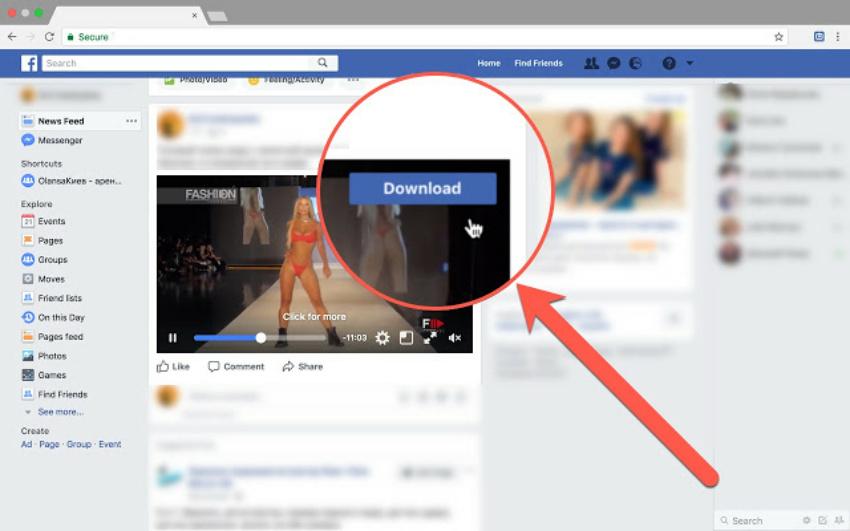 tai video tren facebook