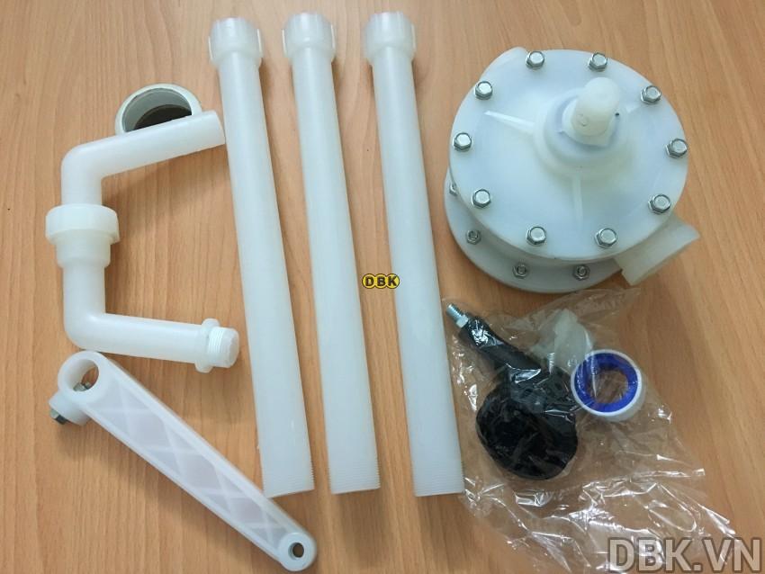Bơm quay tay hóa chất cao cấp DBK RP-90PVDF