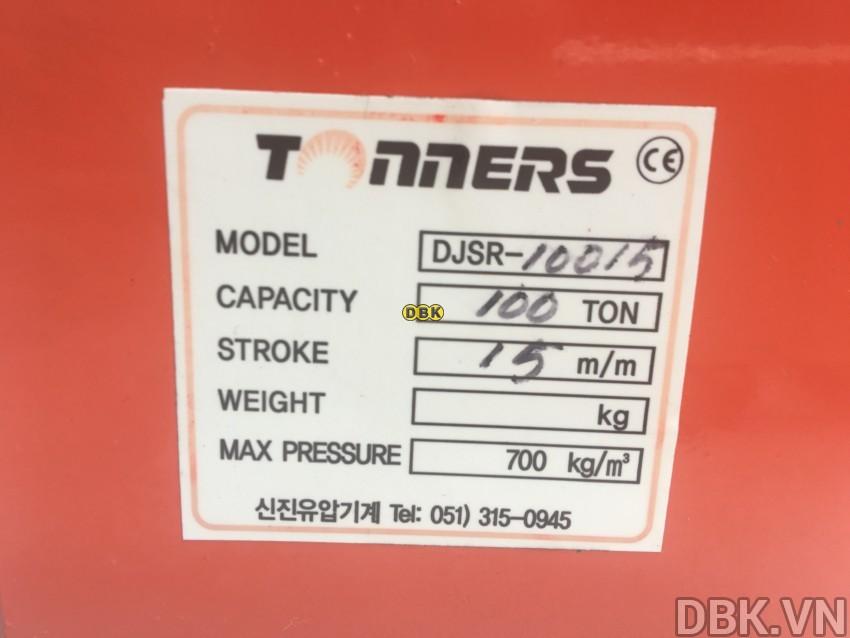 Kích thủy lực lùn 100 tấn,/p</p></p> 15mm TONNERS DJSR-10015