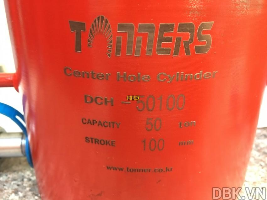 Kích thủy lực rỗng 50 tấn,</p></p></p> 100mm TONNERS DCH-50100