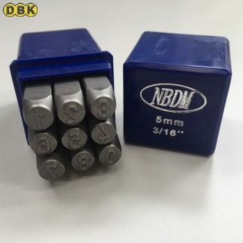 Bộ đóng số, chất thép Mỹ 5 mm DI CHUANG